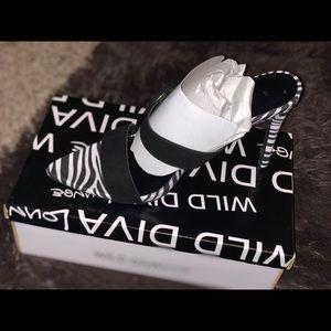 Pointy Toe Zebra Print Heels
